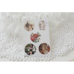 Карточка с картинками под кабошон Дети, 30мм