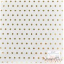 """Прозрачный ацетатный лист с золотым фольгированием """"В горошек"""", 30.5*30.5см"""
