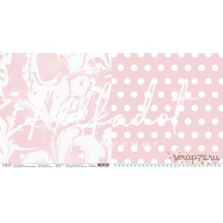 """Двусторонняя бумага Розовые очки """"16+"""" , 30.5*30.5 см, плотность 190 гр/м2."""