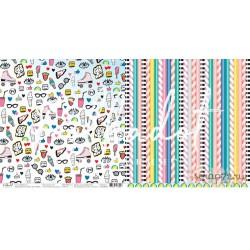 """Двусторонняя бумага Одноклассники """"16+"""", 30.5*30.5 см, плотность 190 гр/м2."""