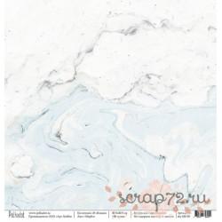 """Односторонняя бумага Марбл """"В облаках"""", 30.5*30.5 см, плотность 190 гр/м2."""