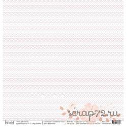 """Односторонняя бумага Вышивка """"Хлопковые сны"""", 30.5*30.5 см, плотность 190 гр/м2."""