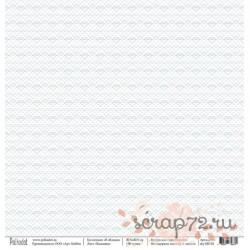 """Односторонняя бумага Вышивка """"В облаках"""", 30.5*30.5 см, плотность 190 гр/м2."""