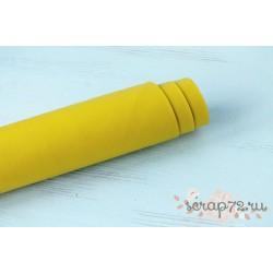 Кожзам, цвет желтый, 0.7мм, отрез 42*35 см