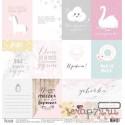"""Односторонняя бумага Карточки """"Хлопковые сны"""", 30.5*30.5 см, плотность 190 гр/м2."""