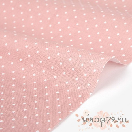 Хлопок Dailylike 253 Cat's garden Pink dot, отрез 55*45см