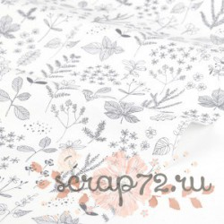 Хлопок Dailylike 59 Nature leaf, отрез 40*45см