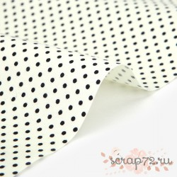 Хлопок Dailylike 453 Cream dot,  отрез 55*45см