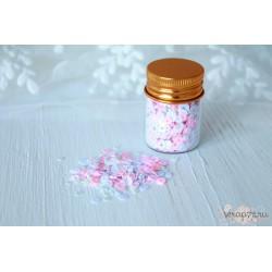 Пайетки в баночке Shabby Girl,  бело-розовый микс