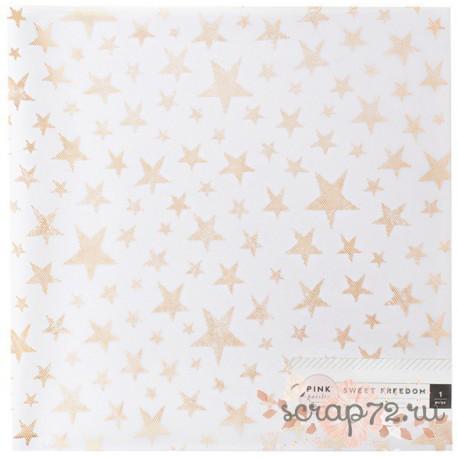 "Лист веллума ""Sweet Freedom-Copper Stars"" от Pink Paislee"
