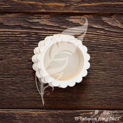 Чипборд Заготовка для шейкера круг волнистый (5,5х5,5 см) (4 элемента из картона + 2 пластиковых вставки)