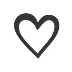 """Акриловое украшение """"Сердце"""", 24*24мм, 1 шт."""
