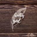 Чипборд baby girl 2 элем. (3,6х2,1см, 2,9х2,3 см)