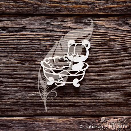 Чипборд Мишутка купается (5х4,8 см)