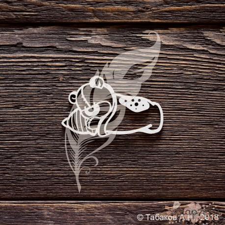 Чипборд Мишутка спит (5,8х3,5 см)