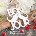 Чипборд Надпись Bon Jour Hi-386, 53 x 47 мм