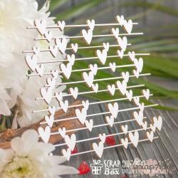 Чипборд Фон с маленькими сердечками Hb-044, 100 x 97 мм
