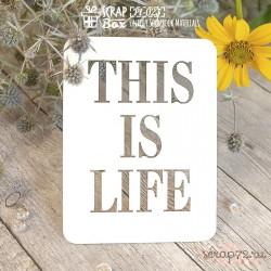 Чипборд. Карточка Project Life PL-023, 100 x 75 мм
