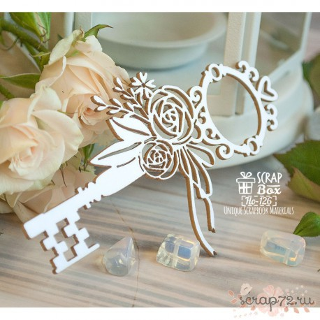 Чипборд ключ с цветами Ho-126 59 x 94 мм