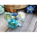 Букетик из цветов вишни, голубые тона, 2.5см, 5шт.