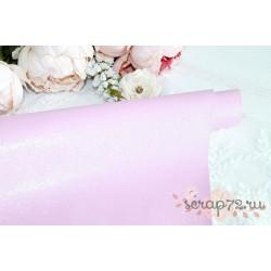 Ткань с глиттером, цвет нежно розовый хамелион с зелёно-голубым отливом, 0.7мм, отрез 34*50 см