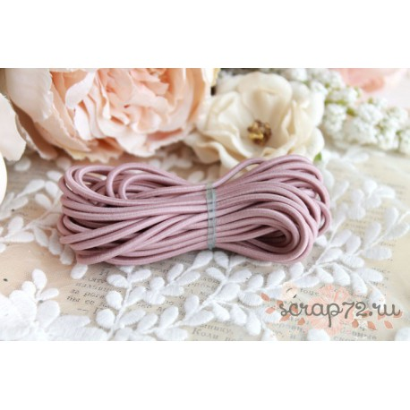Шнур 2.8 мм эластичный розовый, 1м