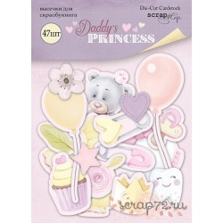 Набор высечек для скрапбукинга 47шт от Scrapmir Daddy's Princess