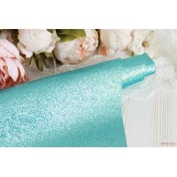 Ткань с глиттером, цвет голубой, 0.7мм, отрез 34*49 см