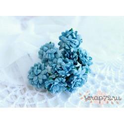 Астра, цвет голубой,  15мм, 1 цветочек