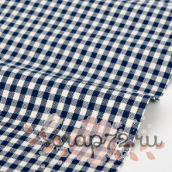Хлопок Dailylike 07 Navy gingham check 1, отрез 55*45см