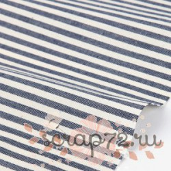 Хлопок Dailylike 08 Navy stripe, отрез 55*45см