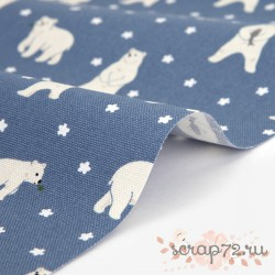 Хлопок Dailylike 449 Friendly bear (оксф), отрез 49*45см