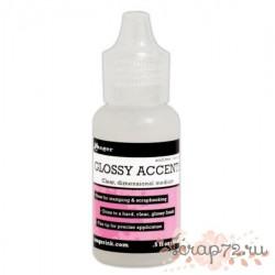Клей Glossy accents от Ranger, мини упаковка, 18мл