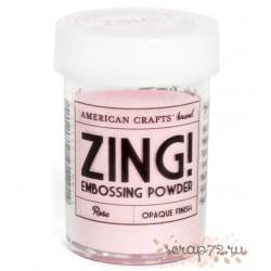 Пудра матовая для эмбоссинга Zing! от American Crafts, цвет Rose