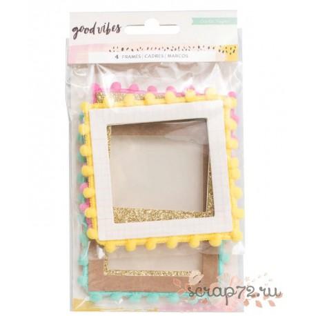 Набор декоративных рамочек с помпонами от Crate Paper