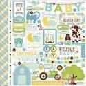 """Набор стикеров Echo Park Paper """"Bundle Of Joy / A New Addition"""" (Baby Boy), 30*30см"""