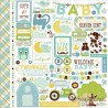 "Набор стикеров Echo Park Paper ""Bundle Of Joy / A New Addition"" (Baby Boy), 30*30см"
