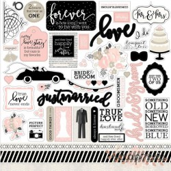 """Набор стикеров Echo Park Paper """"Wedding Bliss"""", 30*30см"""