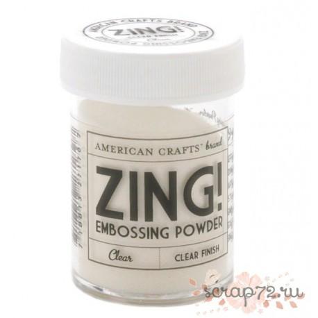 Пудра для эмбоссинга Zing! от American Crafts, цвет Clear