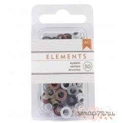 Люверсы от American Crafts, цвет Metallic, 50шт