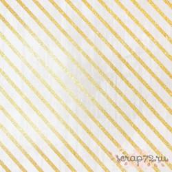 Бумага для скрапбукинга с блёстками «Волшебный момент», 30,5 х 30,5см, 180 г/м
