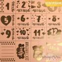 Бумага жемчужная с фольгированием «Моя малышка», 30,5 х 30,5 см, 250 г/м