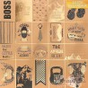 Бумага крафтовая для скрапбукинга с фольгированием «Лучшему мужчине», 30,5 х 30,5 см, 180 г/м