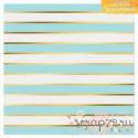 Бумага в листах с фольгированием «Голубые полосы», 1лист 30,5 х 30,5 см, 180 г/м