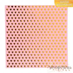 Бумага в листах «Сердечки», 1лист 15,5 х 15,5 см, 180 г/м