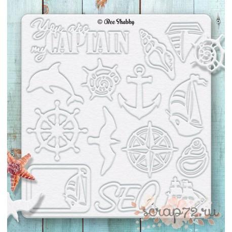 Набор чипборда SEA adventure №2 - Корабли