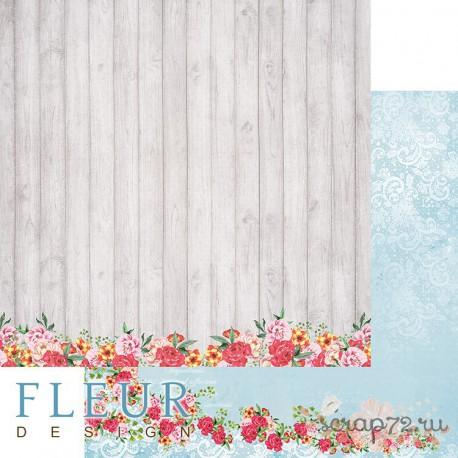 """Лист бумаги для скрапбукинга """"Любимая веранда"""", коллекция """"Зефир"""", 30,5х30,5 см, плотность 190 гр"""