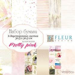 """Набор бумаги """"Pretty pink"""" 30,5х30,5, 6 двусторонних листов FD1006830"""