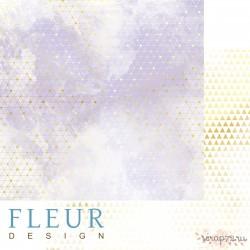 "Лист бумаги для скрапбукинга ""Туман будущего"", коллекция ""Pretty violet"", 30,5х30,5 см, плотность 190 гр"