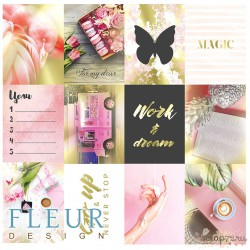 "Набор карточек ""Pretty pink"" 7,5х10 см, FD1116801"
